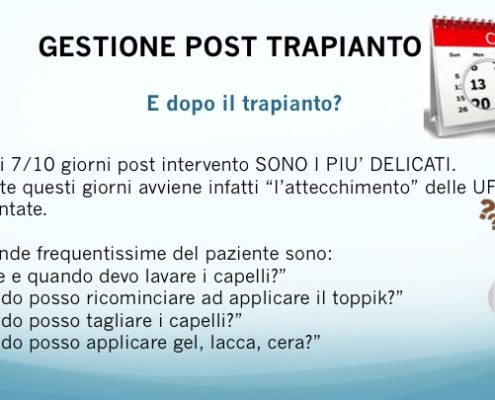 Diapositiva08 gestione post trapianto capelli